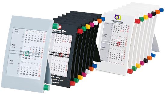 Driemaands bureau kalender for Bureau kalender